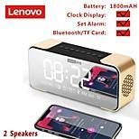 economico -altoparlanti bluetooth lenovo l022 altoparlanti wireless portatili altoparlanti subwoofer bluetooth 5.0 led sveglia tf card altoparlanti aux