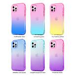 economico -telefono Custodia Per Apple Per retro iPhone 12 Pro Max 11 SE 2020 X XR XS Max 8 7 6 Resistente agli urti A prova di sporco Traslucido Colore graduale e sfumato Transparente TPU