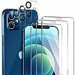 economico -telefono Proteggi Schermo Per Apple iPhone 12 iPhone 11 iPhone 12 Pro Max iPhone 11 Pro iPhone 11 Pro Max Vetro temperato 6 pezzi Alta definizione (HD) Anti-graffi Proteggi lente frontale e fotocamera