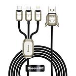 economico -BASEUS Micro USB Lightning USB C Cavi 1 a 3 3.5 A 1,2 m (4 piedi) Lega di zinco Nylon TPE Per Macbook iPad Samsung Appendini per cellulare