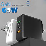 economico -65 W Potenza di uscita USB Caricatore PD Caricatore veloce Caricabatterie portatile Portatile Multiuscita Ricarica veloce Zero Per Cellulari iMac