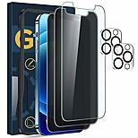 economico -telefono Proteggi Schermo Per Apple iPhone 12 iPhone 11 iPhone 12 Pro Max iPhone 11 Pro iPhone 11 Pro Max Vetro temperato 5 pezzi Alta definizione (HD) Anti-graffi Anti-spia Proteggi lente frontale e