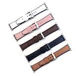 economico -Cinturino intelligente per Apple  iWatch 1 pcs Banda di affari Similpelle Sostituzione Custodia con cinturino a strappo per Apple Watch Serie SE / 6/5/4/3/2/1