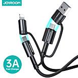 economico -Joyroom Micro USB Lightning USB C Cavi 1 a 3 Alta velocità Carica rapida 3 A 1.8M (6 piedi) Nylon TPE Per Samsung Xiaomi Huawei Appendini per cellulare
