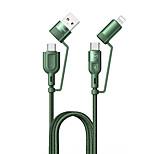 economico -MCDODO Micro USB Lightning USB C Cavi Tutto-in-1 1 a 4 Carica rapida 3 A 1,2 m (4 piedi) TPE Per Samsung Xiaomi Huawei Appendini per cellulare