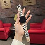 economico -Cinturino intelligente per Apple  iWatch 1 pcs Chiusura classica Vera pelle Tela Sostituzione Custodia con cinturino a strappo per Apple Watch Serie SE / 6/5/4/3/2/1
