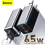 economico -BASEUS 65 W Potenza di uscita USB USB C Caricatore PD Caricatore veloce Caricatore del telefono Caricatore GaN Caricatore per laptop Caricabatterie portatile Multiuscita Ricarica veloce Per iPad