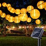economico -luci esterne della stringa solare luci del giardino della lanterna 10 20 led mini lanterne sospese in nylon bianco con lampadine bianche calde incluse impermeabile per feste in giardino all'aperto