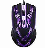 economico -Mouse da gioco da gioco con cavo USB ottico 6d a LED 1200 dpi per PC laptop combina aggiornamento perfetto