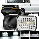 economico -otolampara 7 pollici 6x7 / 5x7 luce per camion 126w 6000k faro a led quadrato ip67 faro ausiliario antivibrante impermeabile 2 pezzi