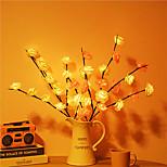 economico -luci decorative a led 75cm 20 luci di ramo foglia d'acero a led aa alimentato a batteria ramo di salice a led flessibile luce vaso alto riempitivo ramoscello di salice lampada per l'illuminazione