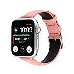 economico -Cinturino intelligente per Apple  iWatch 1 pcs Chiusura classica Banda di affari Vera pelle Sostituzione Custodia con cinturino a strappo per Apple Watch Serie SE / 6/5/4/3/2/1