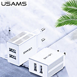 economico -USAMS 10 W Potenza di uscita USB Caricatore del telefono Caricabatterie portatile Caricabatteria di Muro Portatile Multiuscita CE Per Xiaomi Cellulare HUAWEI Apple iPhone 12 11 pro SE X XS XR 8