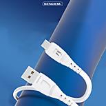 economico -SENDEM Micro USB USB C Cavi Carica rapida Trasmissione dati Caricatore del telefono 6 A 1,2 m (4 piedi) TPE Per Samsung Xiaomi Huawei Appendini per cellulare