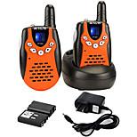abordables -Talkies-walkies rechargeables rt-602 avec câble de charge, talkies-walkies Vox à 22 canaux pour enfants, jouets de 3 à 12 ans pour les aventures en plein air, camping (orange, 1 paire)