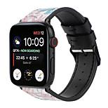 economico -Cinturino intelligente per Apple  iWatch 1 pcs Bracciale stampato Similpelle Sostituzione Custodia con cinturino a strappo per Apple Watch Serie SE / 6/5/4/3/2/1