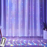 economico -ha condotto le luci della stringa telecomando usb cascata d'acqua ha condotto la luce della tenda 3mx2m 200leds luci della stringa della tenda del filo di rame nuovo anno natale matrimonio di san