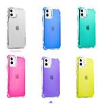 economico -telefono Custodia Per Apple Per retro iPhone 12 Pro Max 11 SE 2020 X XR XS Max 8 7 6 Resistente agli urti A prova di sporco Traslucido Transparente Tinta unita TPU