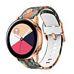 economico -Cinturino intelligente per Samsung Bracciale stampato Silicone Sostituzione Custodia con cinturino a strappo per Samsung Galaxy Watch 46 Samsung Galaxy Watch 42 20 millimetri 22mm
