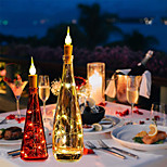 economico -luci della bottiglia di vino con sughero 20 confezioni 6.6ft bianco caldo a batteria 20 led luci della stringa della fiamma della candela con lucine stellate per la festa natale halloween matrimonio