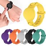 economico -braccialetto in silicone custodia per airtag push bubble fidget giocattoli sensoriali antistress braccialetto a bolle giocattolo braccialetto sensoriale indossabile giocattoli per apple airtag tracker