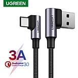 economico -UGREEN USB C Cavi Alta velocità 1.2 A 2.0m (6,5 piedi) 1.5M (5 piedi) 1.0m (3 piedi) Nylon Per Xiaomi Huawei Appendini per cellulare