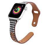 economico -Cinturino intelligente per Apple  iWatch 1 pcs Banda di affari Vera pelle Tela Sostituzione Custodia con cinturino a strappo per Apple Watch Serie SE / 6/5/4/3/2/1