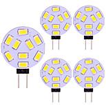 economico -lampadina led range tondo 5 pz g4 15 led 5730 smd 12v - 24v dc ac bianco caldo freddo bianco