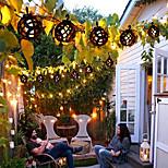 economico -energia solare esterna led fiamma stringa lanterna luci 5m outdoor ip65 fiamma tremolante impermeabile lampada lanterna solare appesa con 8 palline per patio giardino cortile patio decorazione