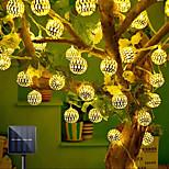 economico -luci a corda cava in ferro battuto a led solari per esterni luci a sfera impermeabili ip65 festa di nozze di natale decorazione di festa in giardino