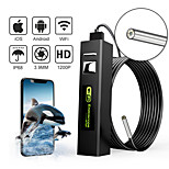 economico -Telecamera per endoscopio WiFi 1200P Telecamera per serpente impermeabile IP68 HD da 3,9 mm con telecamera per endoscopio a LED per endoscopio IOS per PC Android