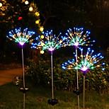 economico -luci della stringa di fuochi d'artificio a led solari esterni 120 led ip65 impermeabile per il percorso del giardino patio cortile luce fata lampada decorazione illuminazione colorata 1x 2x