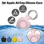 economico -telefono Custodia Per Apple AirTag Custodia in silicone AirTag Portatile Con portachiavi Resistente agli urti Tinta unita Silicone