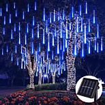 economico -solare esterno led pioggia pioggia pioggia luci luci stringa vacanza impermeabile giardino luce 8 tubi 144 led per giardino albero decorazione colorata illuminazione del paesaggio