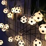 economico -luci stringa di calcio a led tazza euro 3m 1,5 m funzionamento a batteria o usb coppa del mondo luci fata calcio fai da te bar ktv club party decorazione della stanza dei bambini