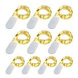 economico -luce della stringa del led 20pcs 10pcs luce della stringa del flash 1m 10leds impermeabile mini ornamento della luce di natale filo di rame luce della stringa per il matrimonio regalo di natale