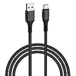 economico -WiWU USB C Cavi Alta velocità 5 A 1,2 m (4 piedi) Nylon TPE Lega di alluminio Per Xiaomi Huawei Appendini per cellulare