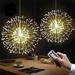 economico -luce della stringa principale 2 pezzi 180 luci della stringa dei fuochi d'artificio a led 8 modalità esplosione stella filo d'argento rame luce fiabesca 150 led 120 led decorazione lampada telecomando