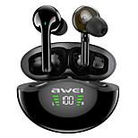 economico -AWEI T12P Auricolari wireless Cuffie TWS Bluetooth 5.1 Design ergonomico Dotato di microfono nell'orecchio per Apple Samsung Huawei Xiaomi MI Uso quotidiano Viaggi All'aperto Cellulare