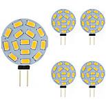 economico -lampadina led bi-pin 5pz 2w g4 tonda 15 smd 5730 dc ac 12 - 24v bianco caldo freddo