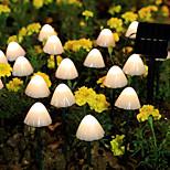 economico -luci stringa led 5 m 3.5 m luci stringa 10 20 led 1 set bianco caldo multi colore natale patio solare impermeabile di capodanno 2 v
