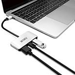 economico -WiWU Alta velocità OTG Supporta la funzione di consegna dell'alimentazione C2H USB 3.0 USB C a USB 3.0 USB 3.0 USB C HDMI Hub USB 3 Porti Per Windows, PC, laptop