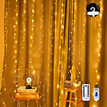 economico -luce stringa led 3x3m 300 led luci tenda filo di rame usb con telecomando vacanze di natale matrimonio decorativo 5 v