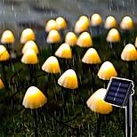 economico -luce solare esterna della stringa ha condotto la luce solare della stringa del fungo 3.8m 10 led patio esterno decorazione del giardino luce fata impermeabile cortile prato lampada solare picchetti 1 set