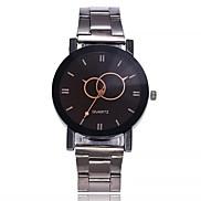 cheap -Men's Wrist watch Fashion Watch Chinese Quartz Large Dial Alloy Band Casual Minimalist Silver