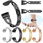 cheap -Watch Band for Fitbit Charge 3 Fitbit Jewelry Design Stainless Steel Wrist Strap