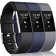 cheap -3pcs Large Watch Band for Fitbit Charge 2 Fitbit Sport Band Silicone Wrist Strap