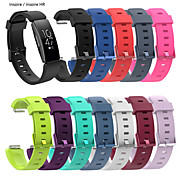 cheap -Large Silicone Wristband Strap Bracelet For Fitbit Inspire / Inspire HR Activity Tracker Smartwatch Replacement Watch Band Wrist Strap