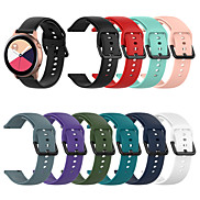 cheap -Watch Band Suit for Samsung Galaxy Watch Active /Samsung Galaxy Watch Active R500 Large&Small Size Classic Buckle Silicone Wrist Strap