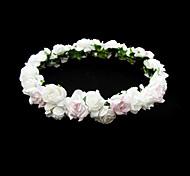 abordables -belle fleur de mariage de papier fillette couronne de fleurs